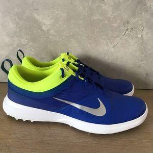 Nike Women's Akamai Golf Shoes Blue/Neon Green